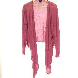 Eileen Fisher Linen Asymmetric Cover Up Cardigan